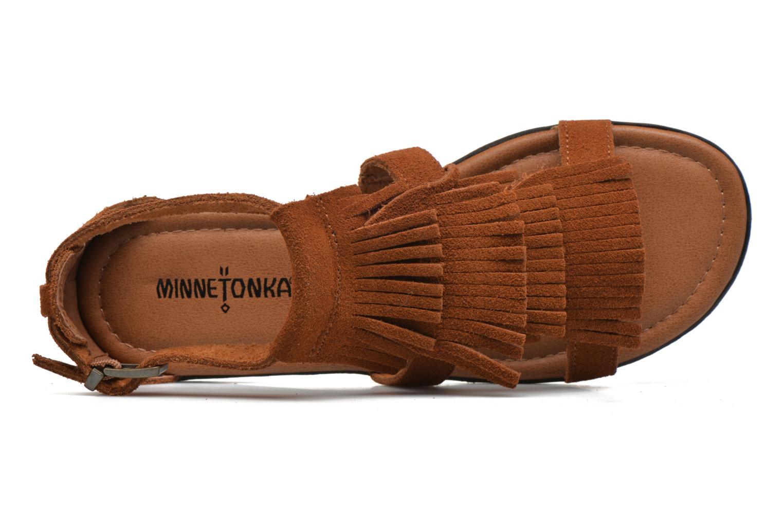 Sandales et nu-pieds Minnetonka Maui Marron vue gauche