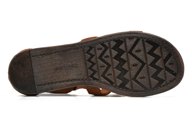 Sandales et nu-pieds Minnetonka Maui Marron vue haut
