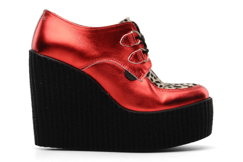 Snörade skor Underground Flashies Röd bild från baksidan