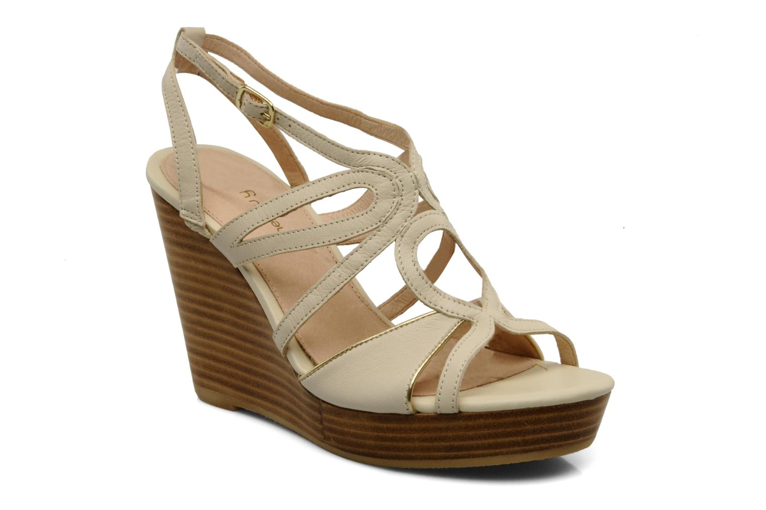 Sandals Mellow Yellow Leef Beige detailed view/ Pair view