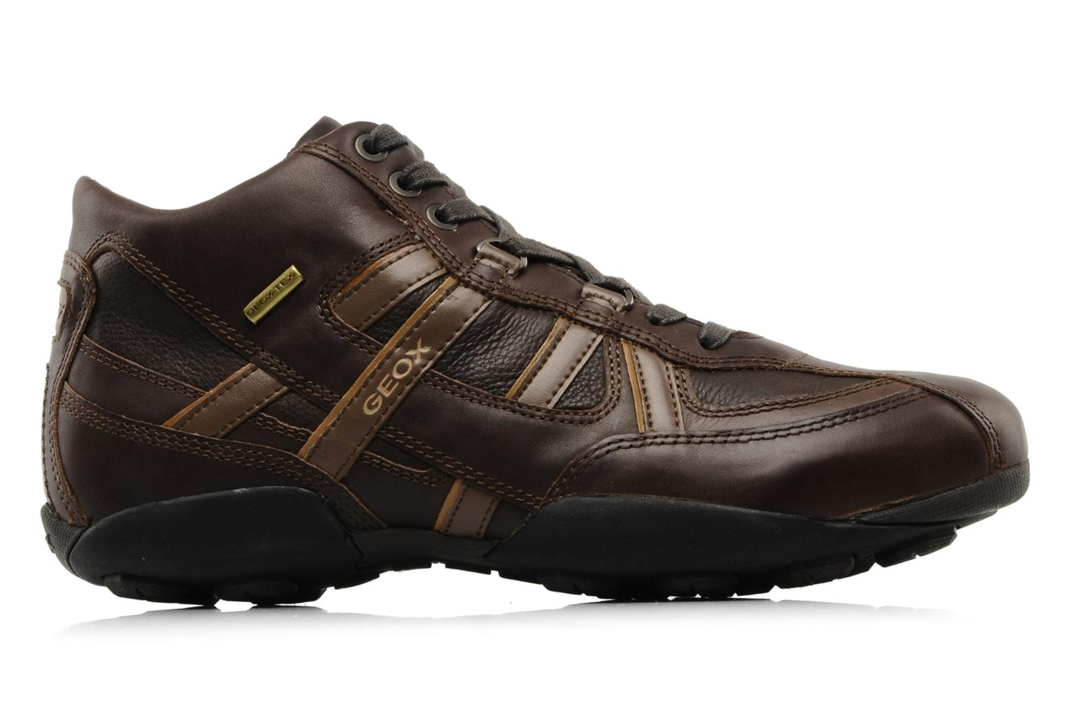 Trainers Geox U New Early Brown back view