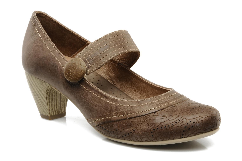 High heels Pikolinos Florencia 8223 Brown detailed view/ Pair view