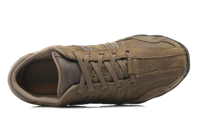 Sneaker Skechers Vassell 62607 braun ansicht von links