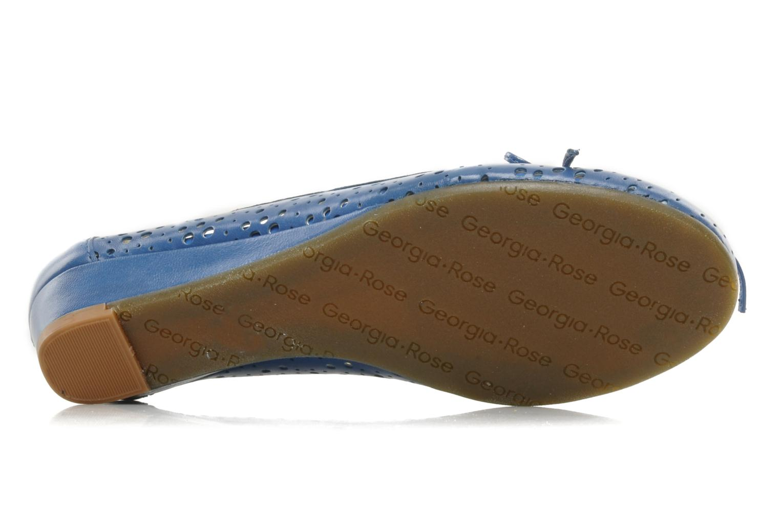Ballet pumps Georgia Rose Tourine Blue view from above