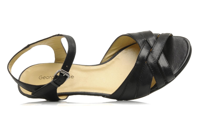 Sandalen Georgia Rose Turaco schwarz ansicht von links
