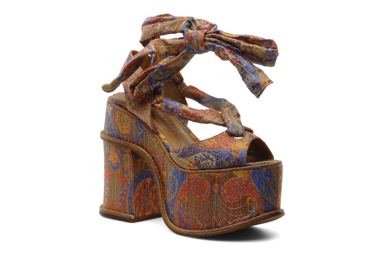 Sandales et nu-pieds Jeffrey Campbell LANDERS Or et bronze vue détail/paire