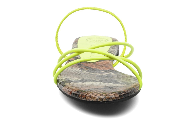 Sandales et nu-pieds Jeffrey Campbell SPIRAL Jaune vue portées chaussures