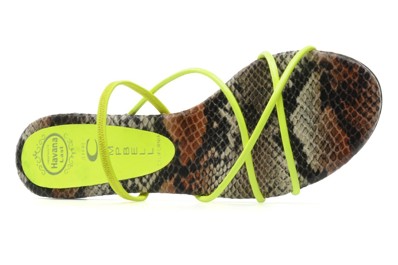 Sandales et nu-pieds Jeffrey Campbell SPIRAL Jaune vue gauche