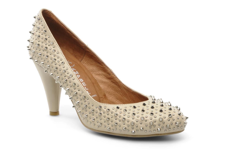Zapatos de tacón Jeffrey Campbell LANE SPIKE Beige vista de detalle / par