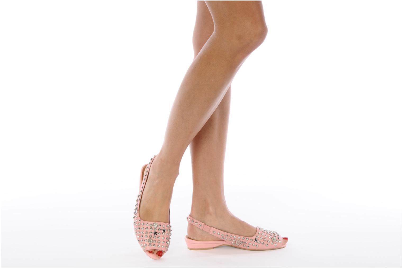 Sandales et nu-pieds Jeffrey Campbell SIDE NOTE Rose vue bas / vue portée sac