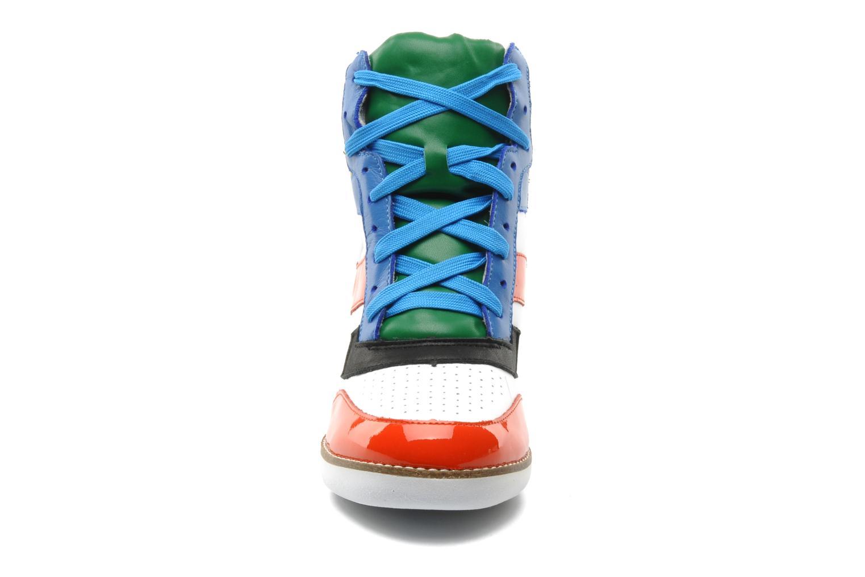 Baskets Jeffrey Campbell NAPOLES Multicolore vue portées chaussures