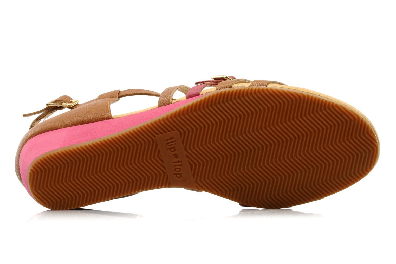 Sandales et nu-pieds Flipflop LIZ Marron vue haut