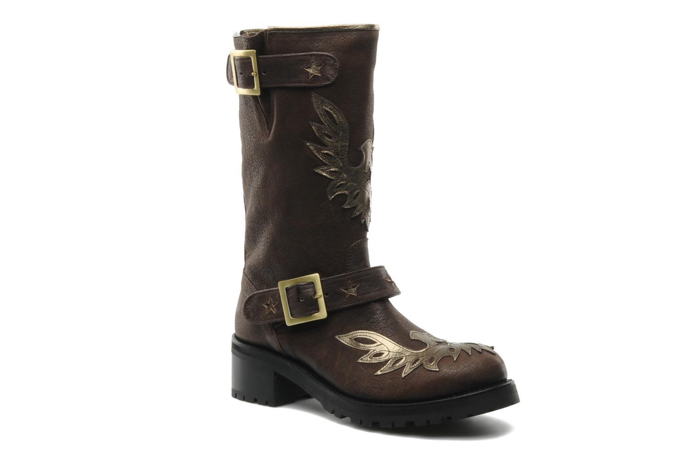 Bottines et boots Georgia Rose Perjane Marron vue détail/paire