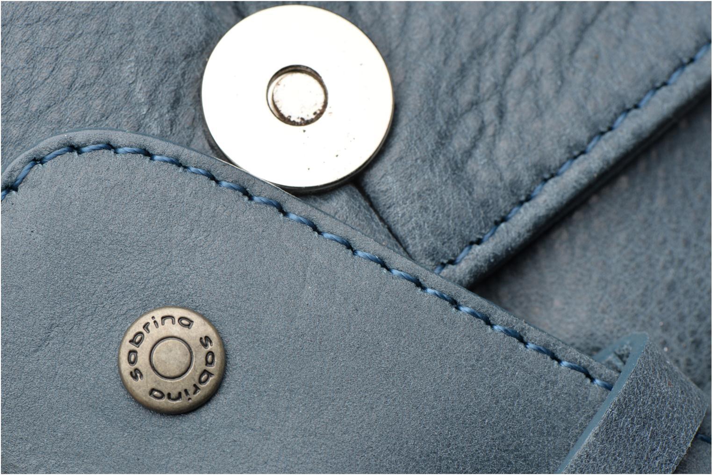 Handtaschen Sabrina Louison blau ansicht von links