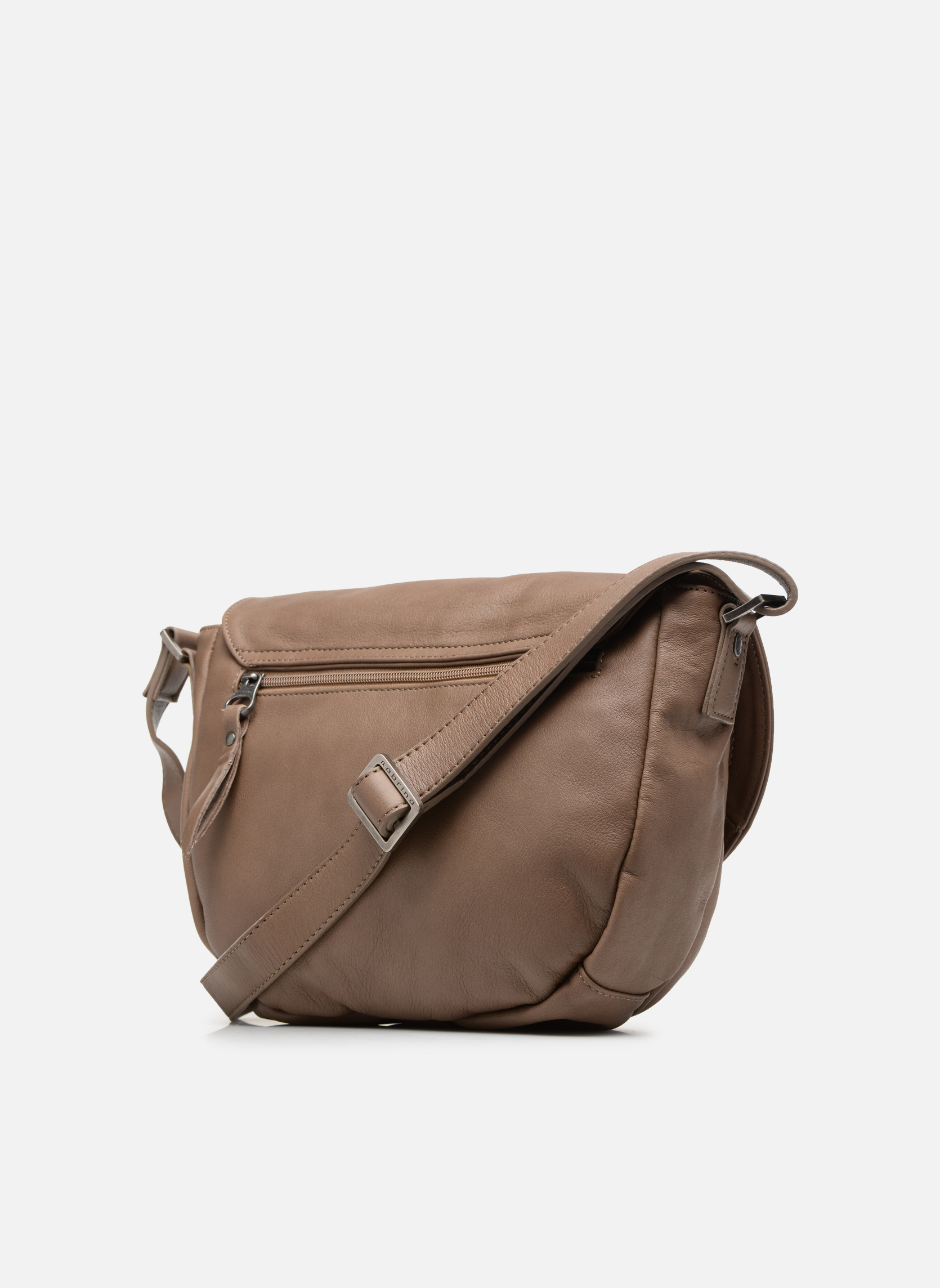 Handbags Sabrina Louison Beige view from the right