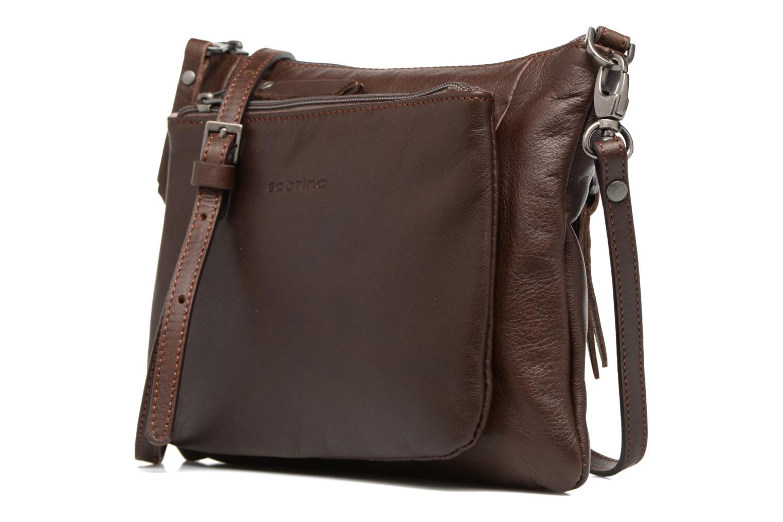 Mini Bags Sabrina Manon braun schuhe getragen