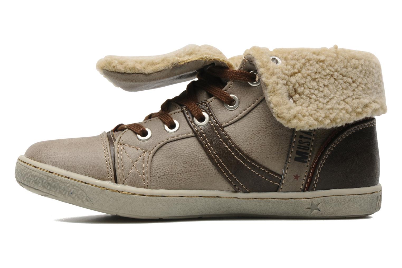 Sneaker Mustang shoes Mukki beige ansicht von vorne