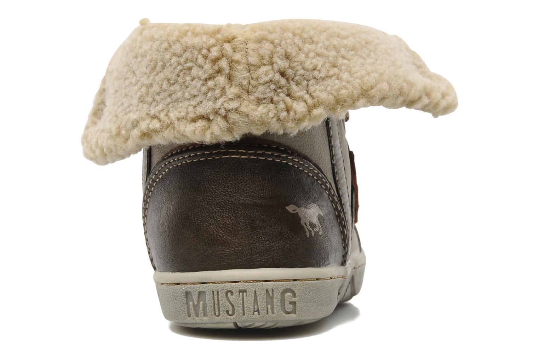 Sneaker Mustang shoes Mukki beige ansicht von rechts