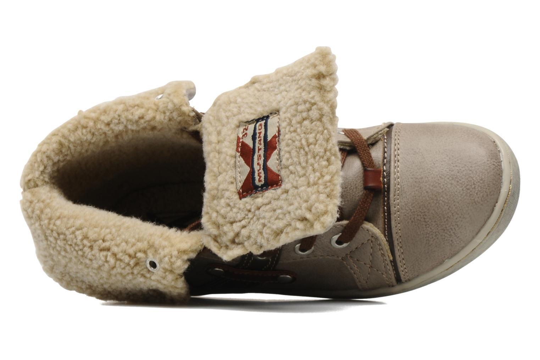 Sneaker Mustang shoes Mukki beige ansicht von links