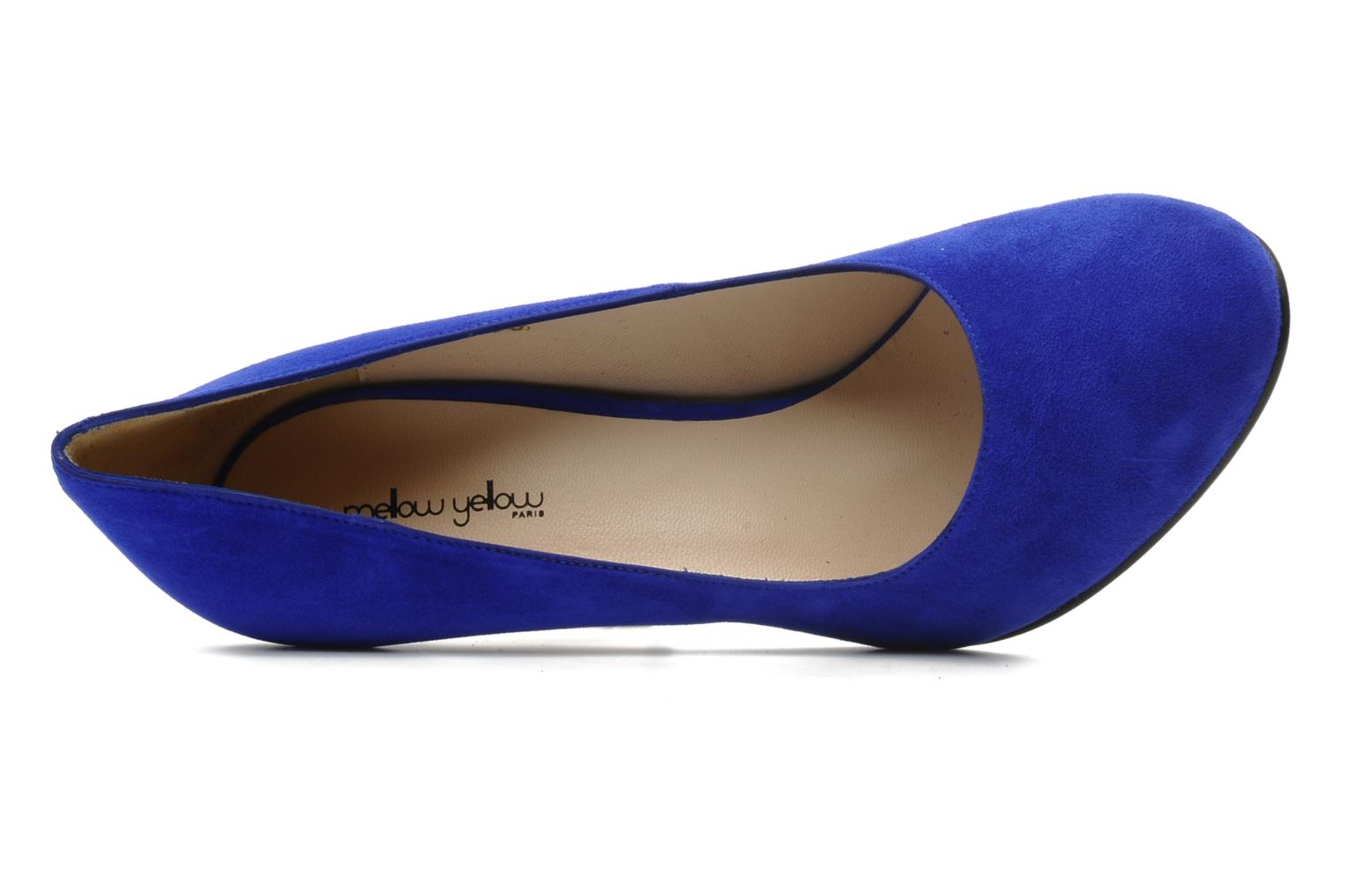 High heels Mellow Yellow Orambo Blue view from the left