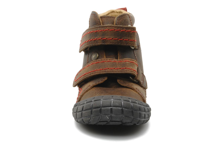 Chaussures à scratch Babybotte Aligator Marron vue portées chaussures