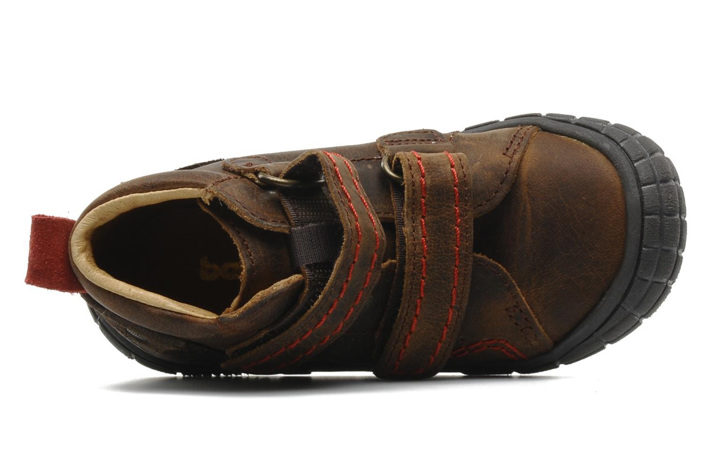 Chaussures à scratch Babybotte Aligator Marron vue gauche
