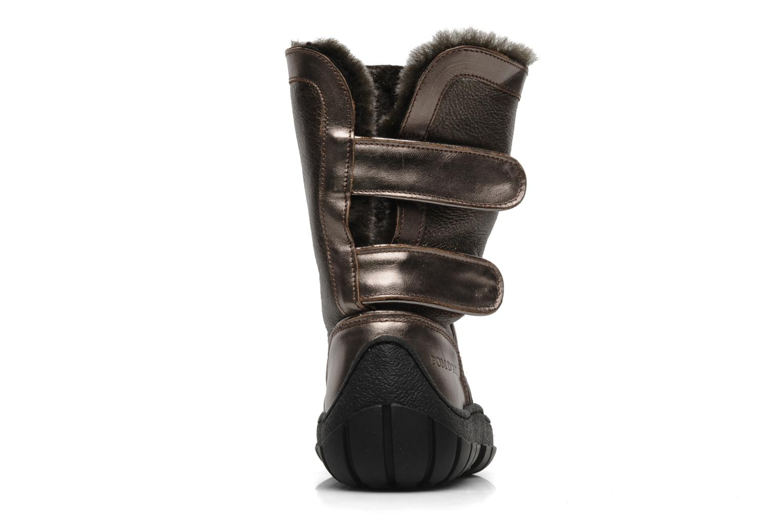 Boots & wellies Pom d Api Piwi chabraque bis Bronze and Gold view from the right