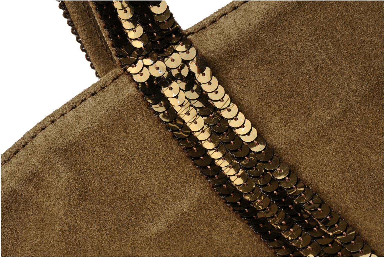 Cabas cuir velours paillettes M Végétal 663