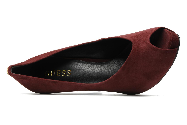 Zapatos de tacón Guess Hytner Vino vista lateral izquierda