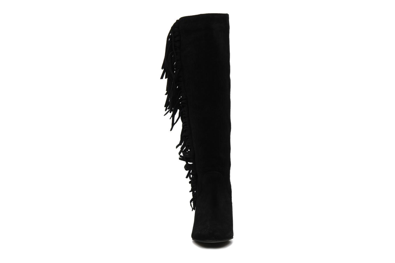 Bottes Supertrash FRINGES Noir vue portées chaussures
