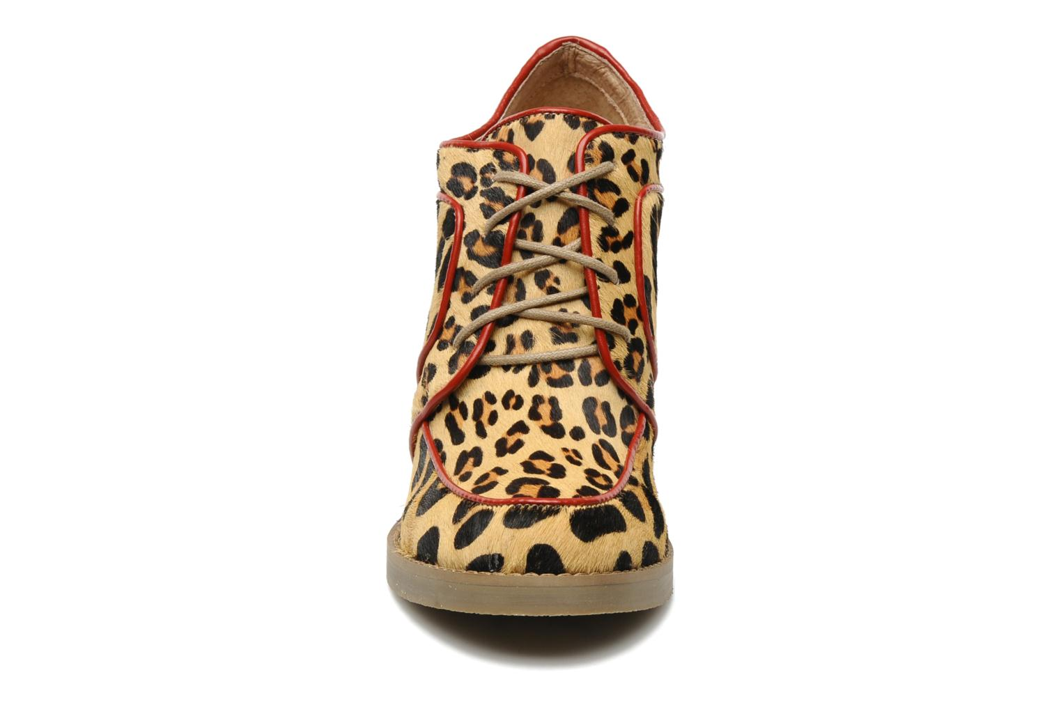 Nabab leopard leather derby Beige