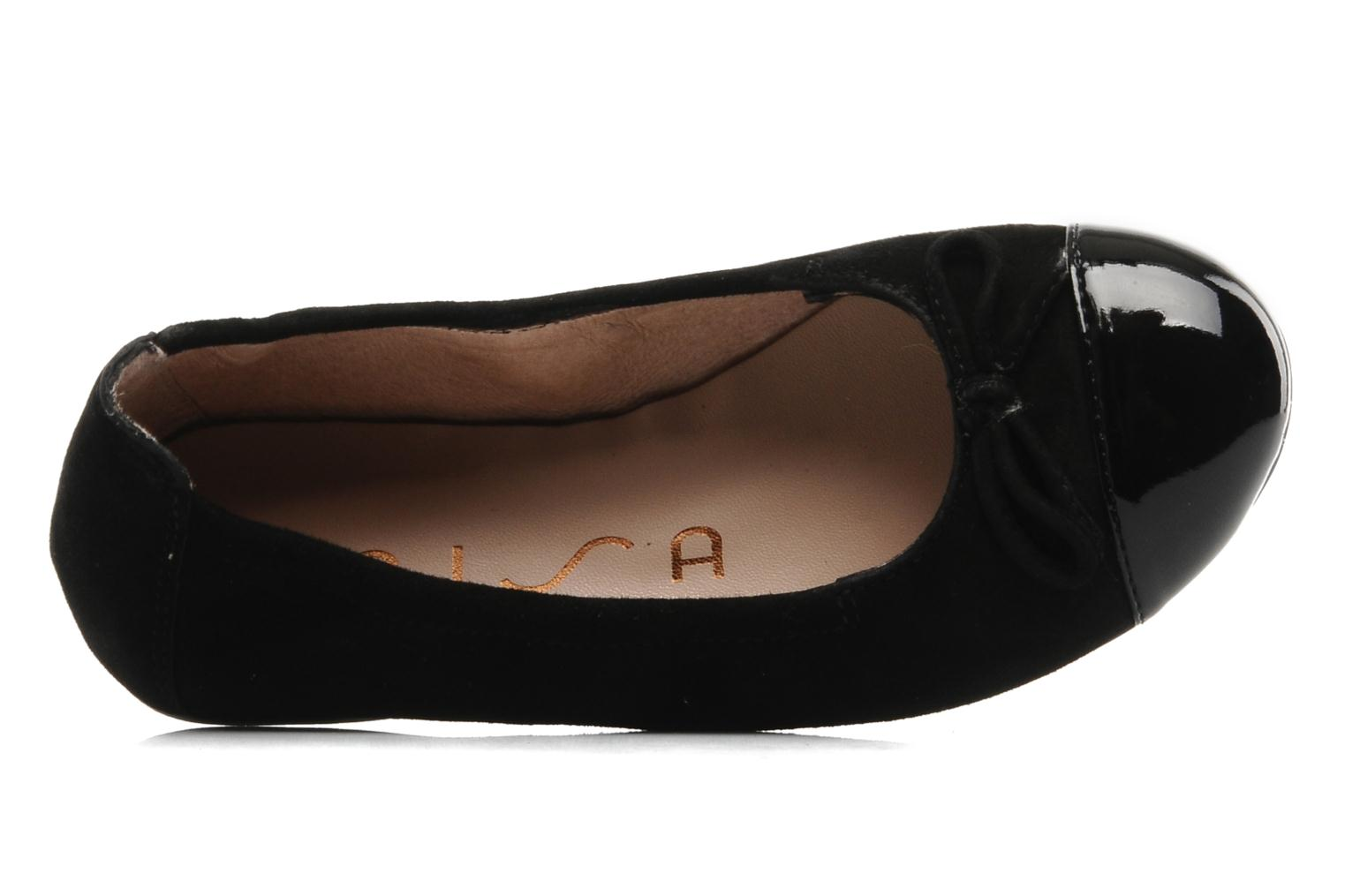 Ballet pumps Unisa Cino Black view from the left