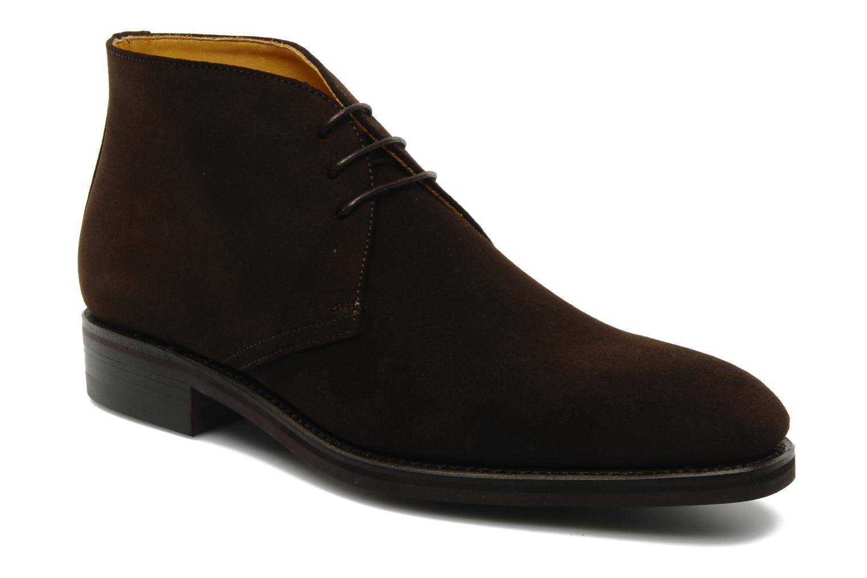 Chaussures à lacets Finsbury Chukka Marron vue détail/paire