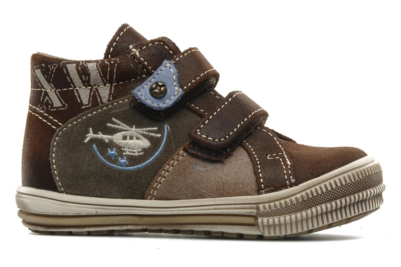 Chaussures à scratch Bopy Belivel Marron vue derrière