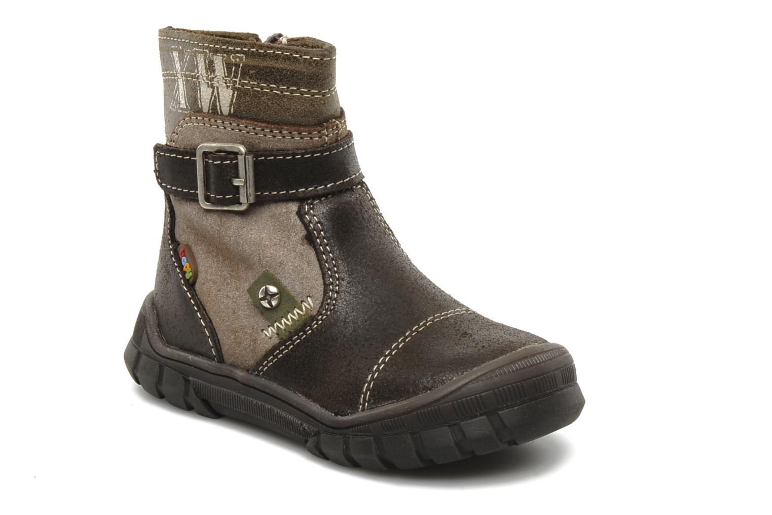 Ankle boots Bopy Bocari Brown detailed view/ Pair view