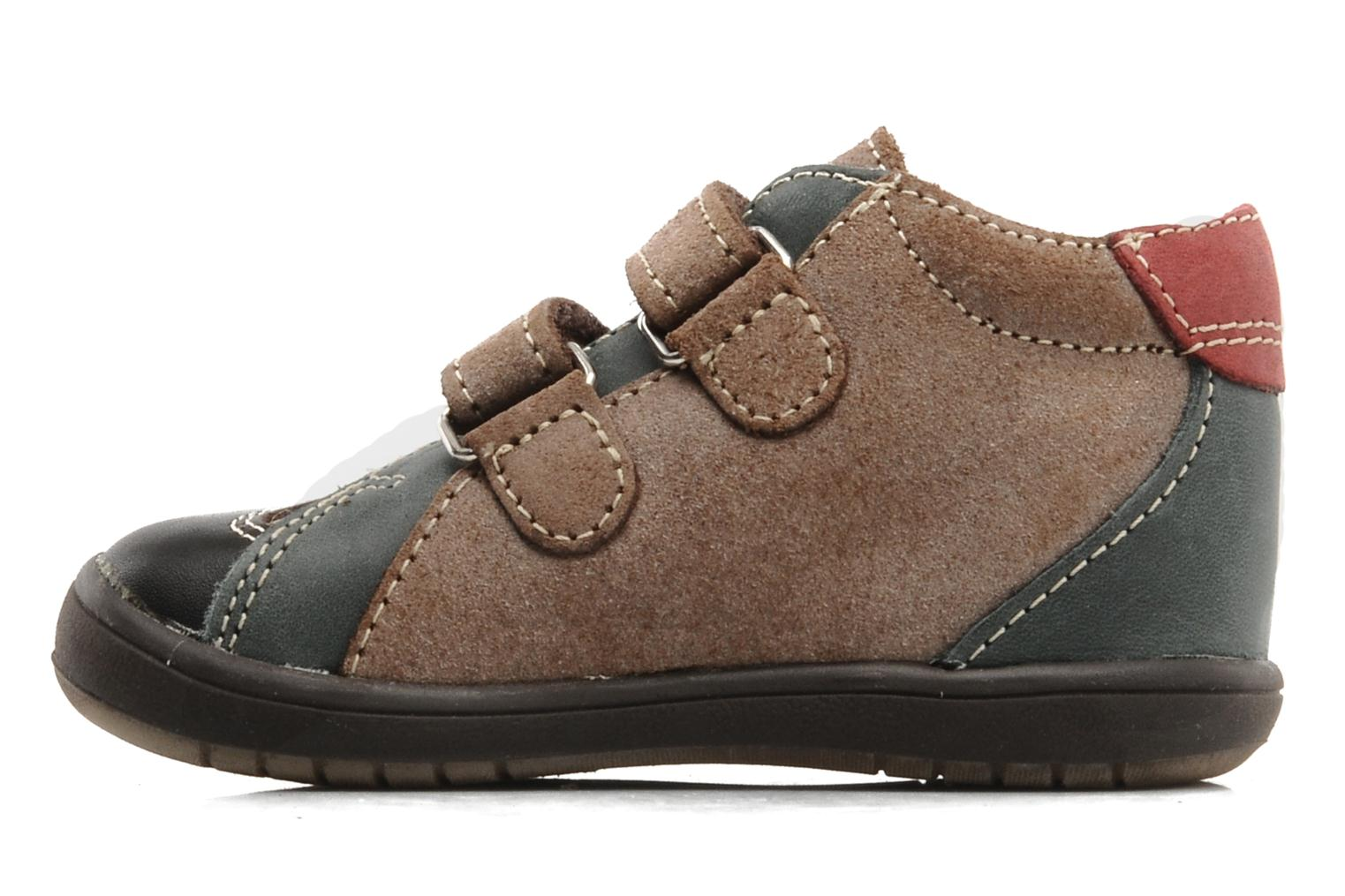 Velcro shoes Bopy Zirvel Brown front view