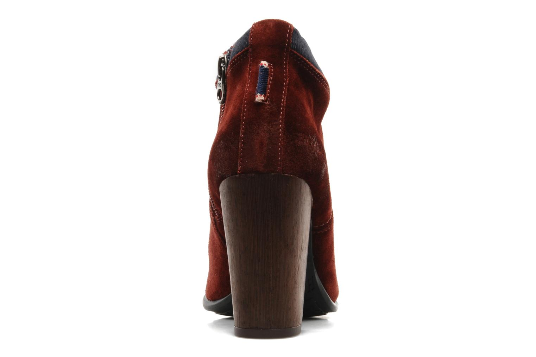 Stiefeletten & Boots Tommy Hilfiger JADE 4 B rot ansicht von rechts