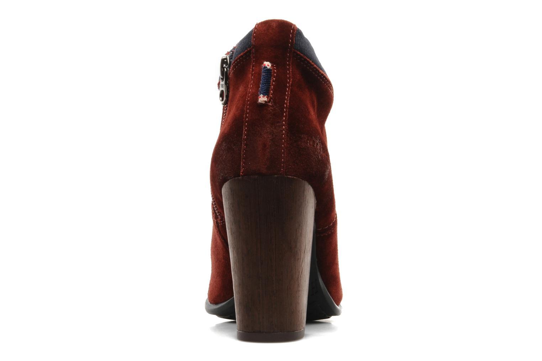 Boots en enkellaarsjes Tommy Hilfiger JADE 4 B Rood rechts