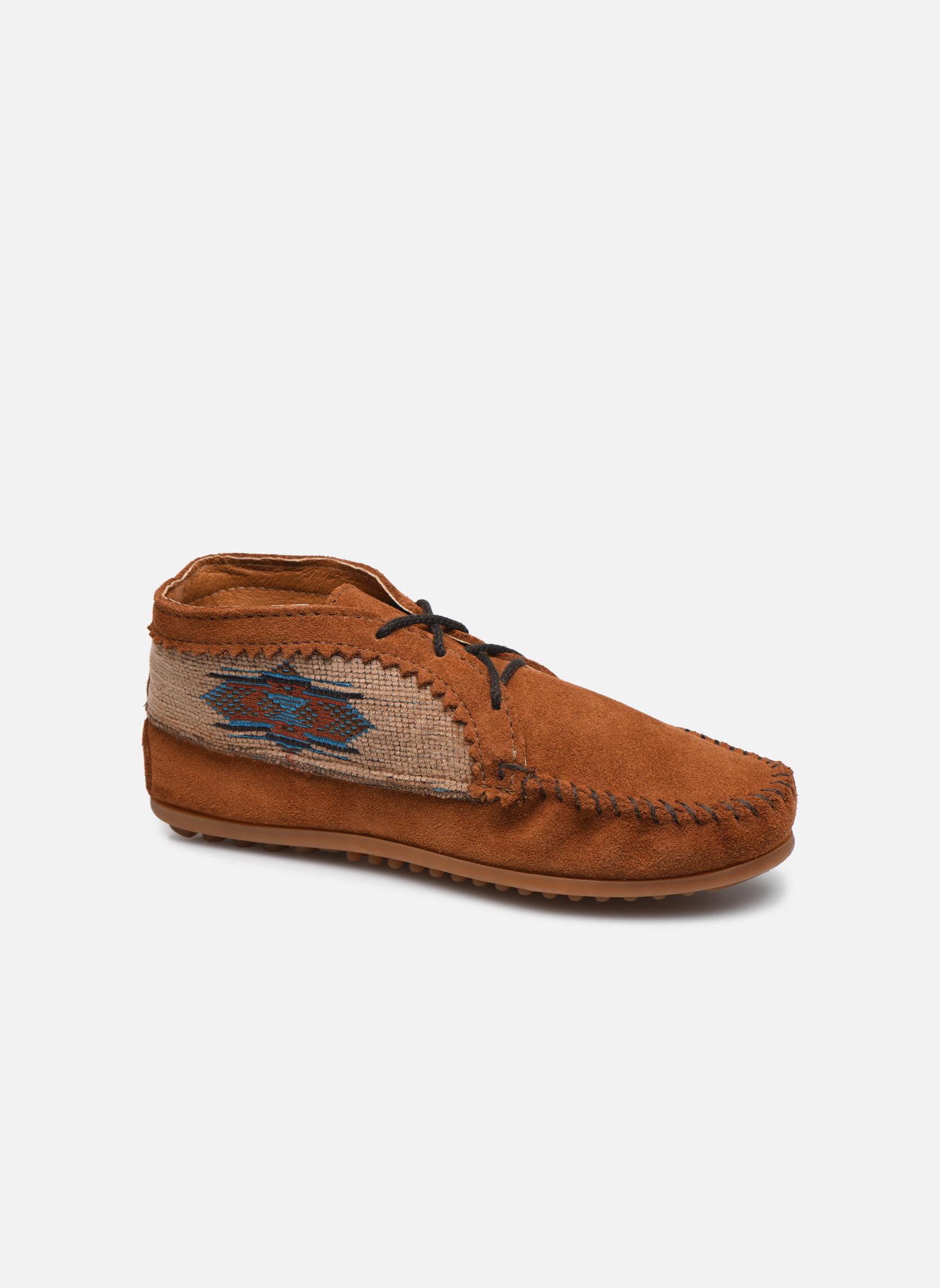 Boots en enkellaarsjes Minnetonka EL PASO ANKLE BOOT Bruin detail