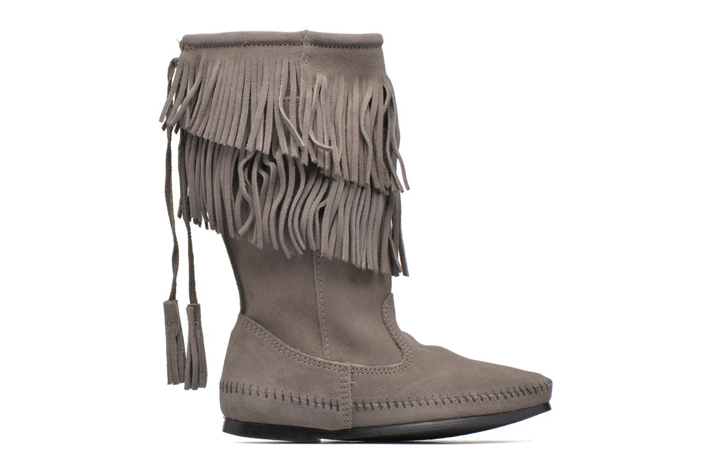 Bottines et boots Minnetonka CALF HI 2LAYER FRINGE Gris vue derrière