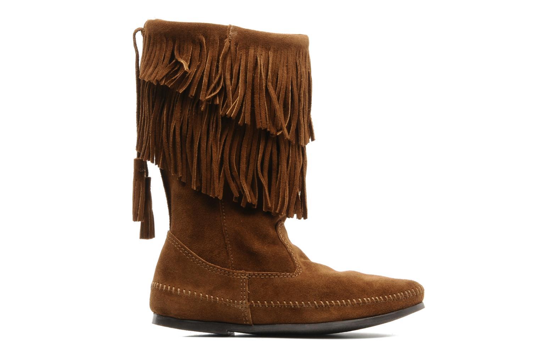 Boots en enkellaarsjes Minnetonka CALF HI 2LAYER FRINGE Bruin achterkant