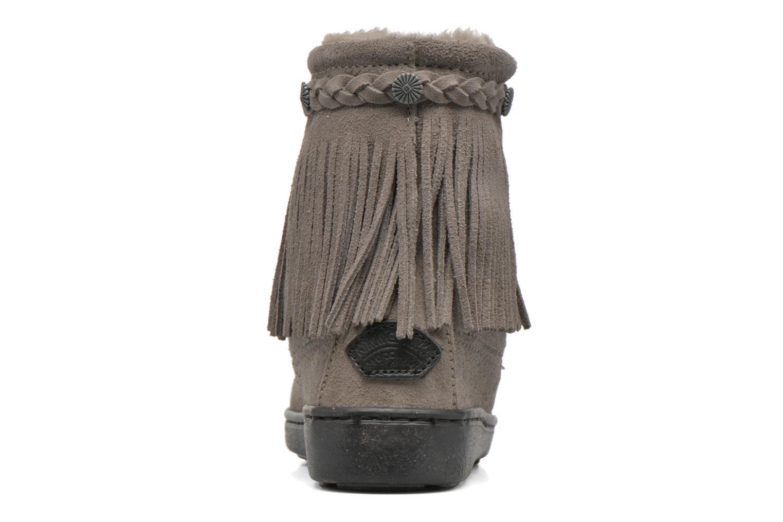 Stiefeletten & Boots Minnetonka SHEEPSKIN TRAMPER grau ansicht von rechts