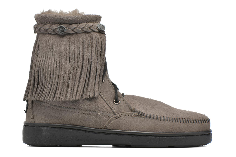 Stiefeletten & Boots Minnetonka SHEEPSKIN TRAMPER grau ansicht von hinten