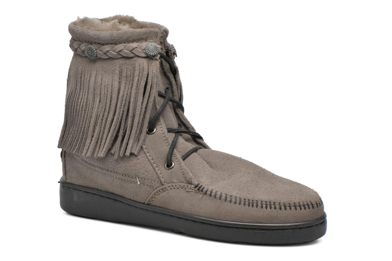 Bottines et boots Minnetonka SHEEPSKIN TRAMPER Gris vue détail/paire