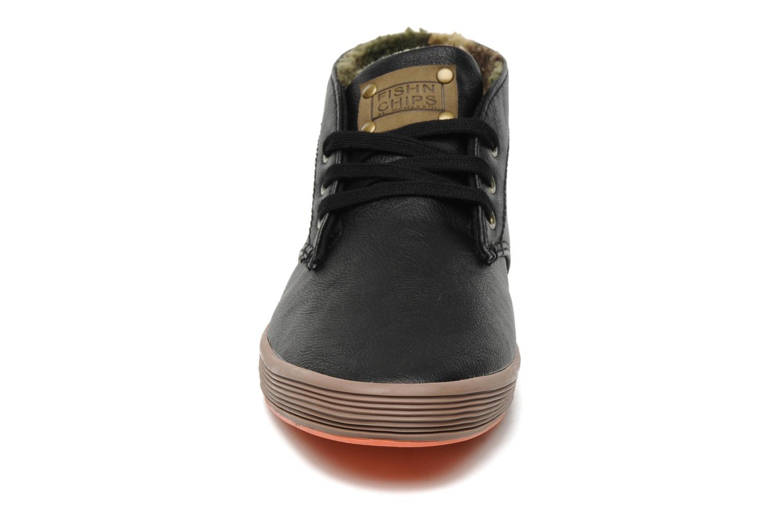 Baskets Fish 'N' Chips ROD Fourré Noir vue portées chaussures