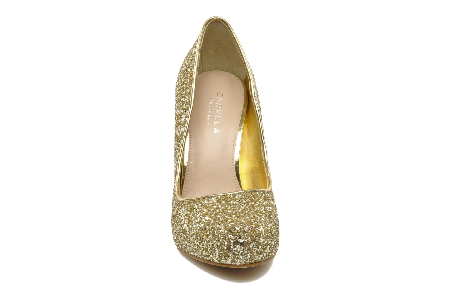 High heels Carvela ANTIBES Bronze and Gold model view