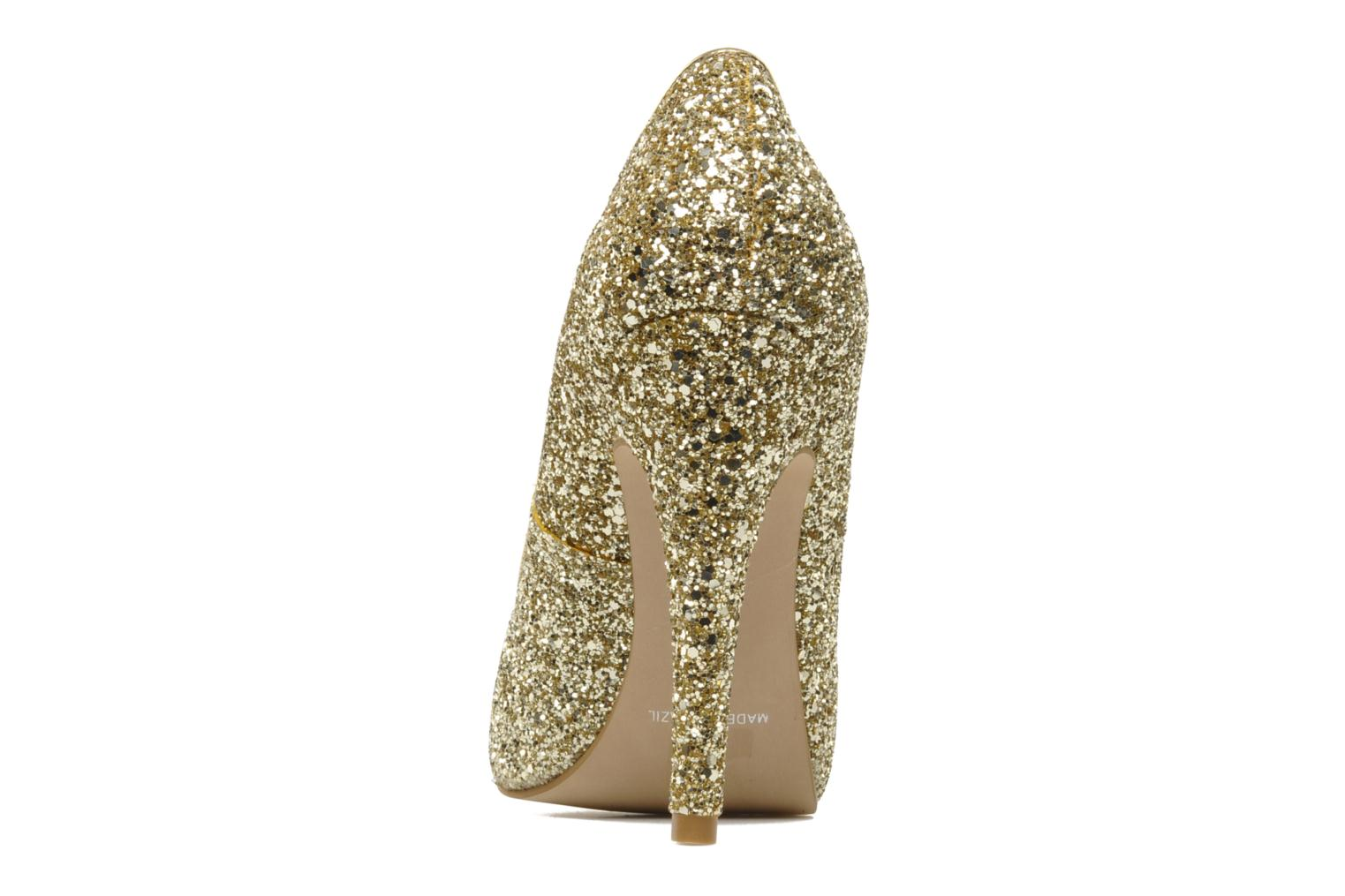 High heels Carvela ANTIBES Bronze and Gold view from the right