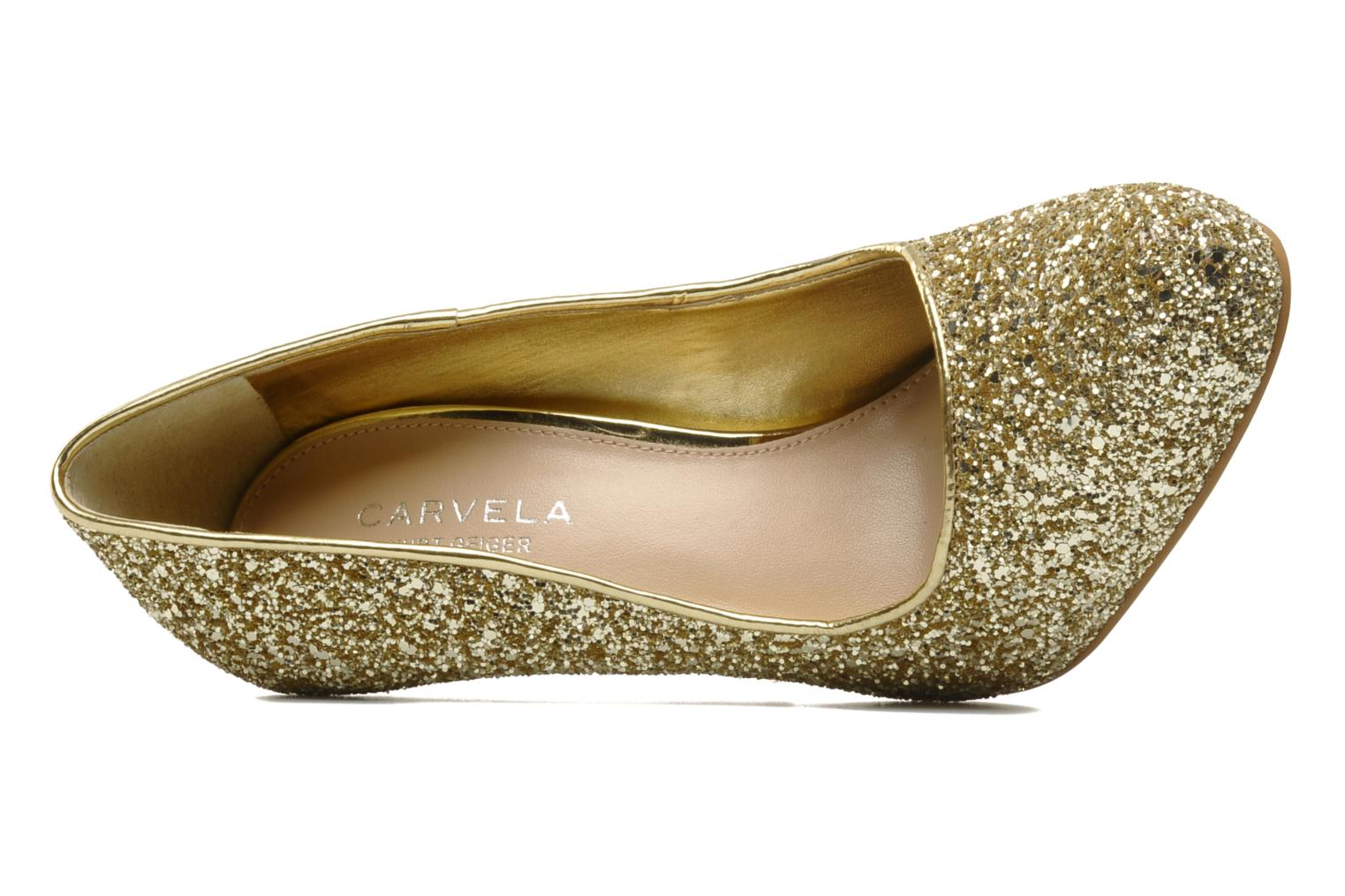 High heels Carvela ANTIBES Bronze and Gold view from the left