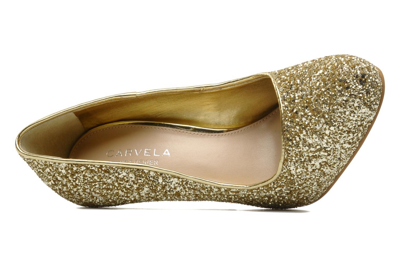 Zapatos de tacón Carvela ANTIBES Oro y bronce vista lateral izquierda