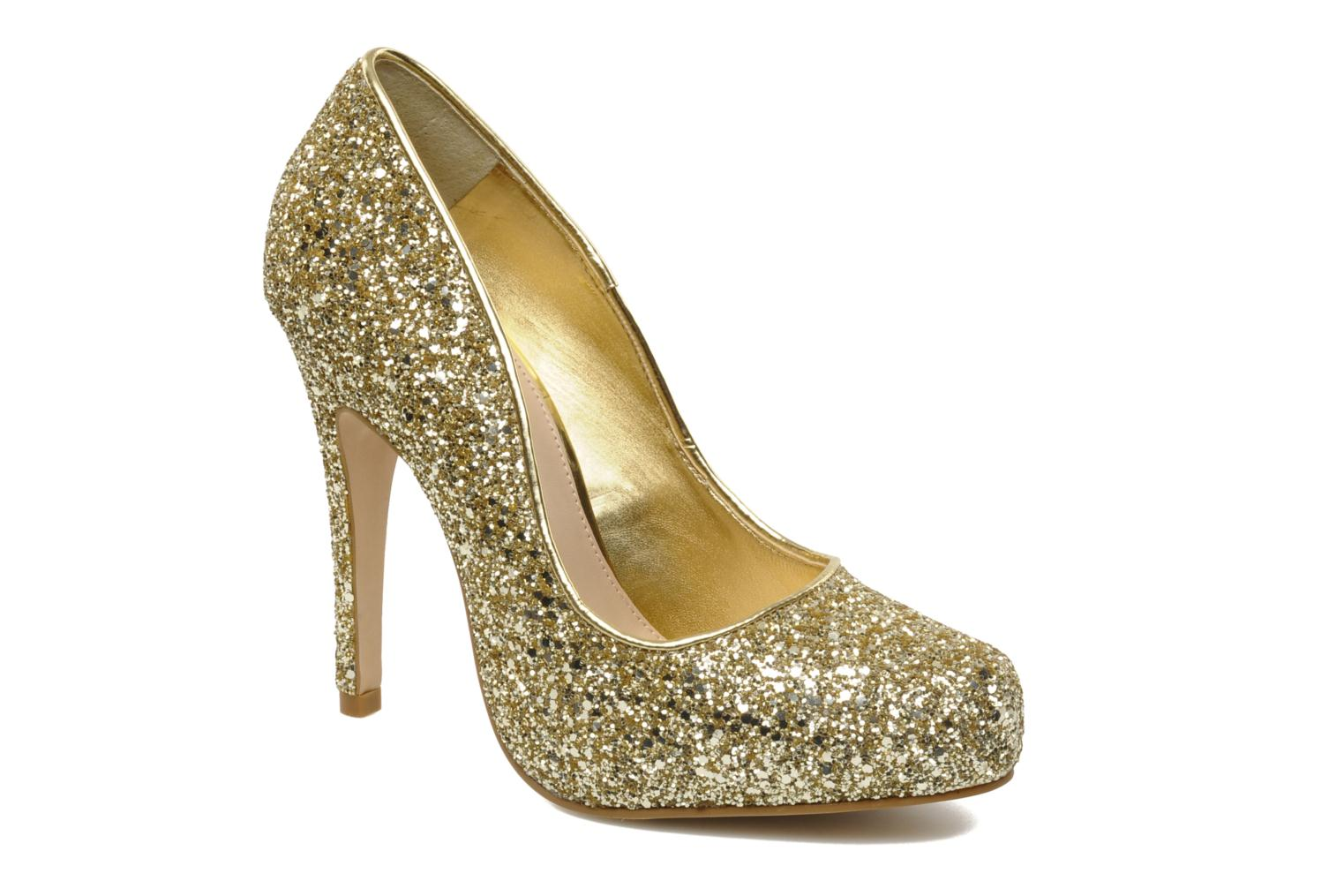 High heels Carvela ANTIBES Bronze and Gold detailed view/ Pair view